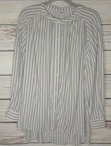 splendid stripe oversize high-low top